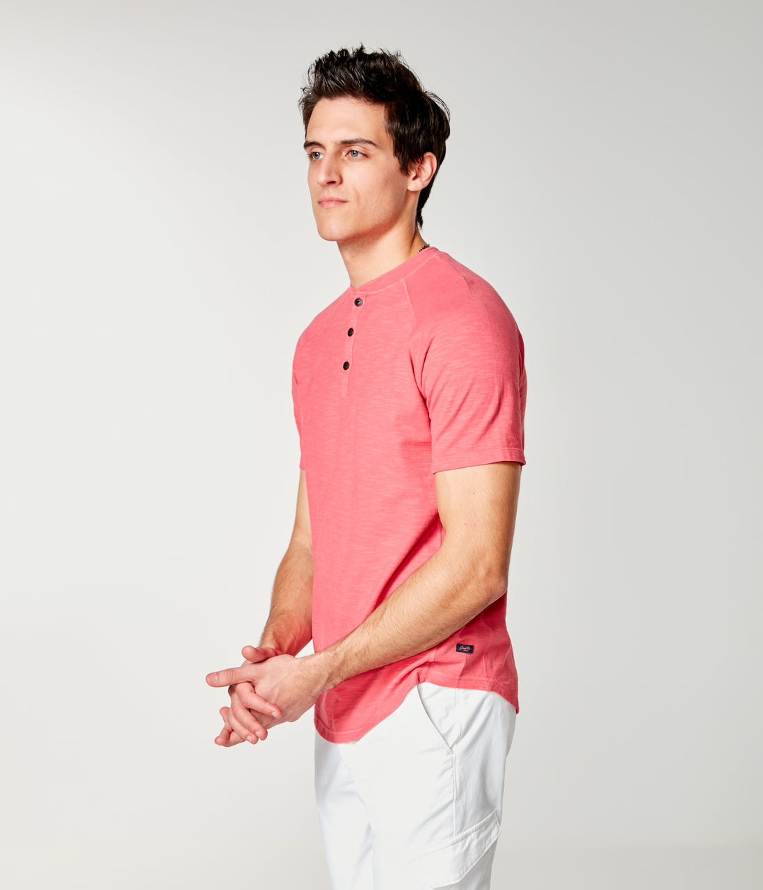 Soft Slub Jersey Legend Henley - Watermelon - Good Man Brand - Soft Slub Jersey Legend Henley - Watermelon