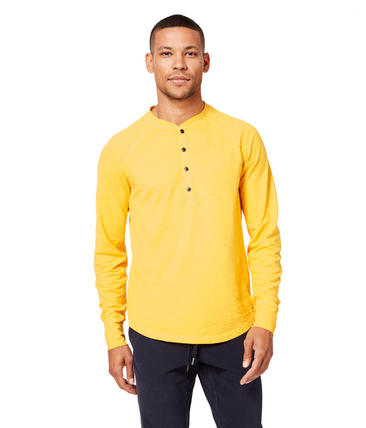 Soft Slub Jersey Legend Henley - Sea - Good Man Brand -