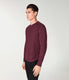 Soft Slub Jersey Legend Henley - Wine