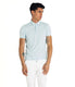 Heather Soft Jersey Polo - Aqua Heather