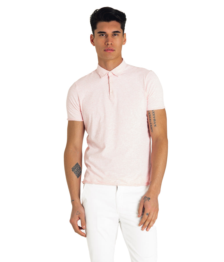 Heather Soft Jersey Polo - Rose Heather - Good Man Brand