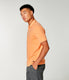 Heather Jersey Notch Neck Polo - Blazing Orange Heather
