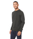 Black Marl French Terry Varsity Sweatshirt - Rifle Green
