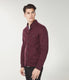 Fuji Twill Quilt Jacquard Shirt Jacket - Wine