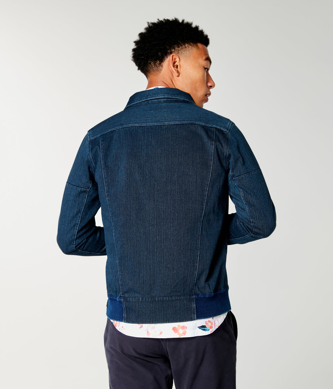 Twill Knit Jean Jacket - Indigo - Good Man Brand - Twill Knit Jean Jacket - Indigo