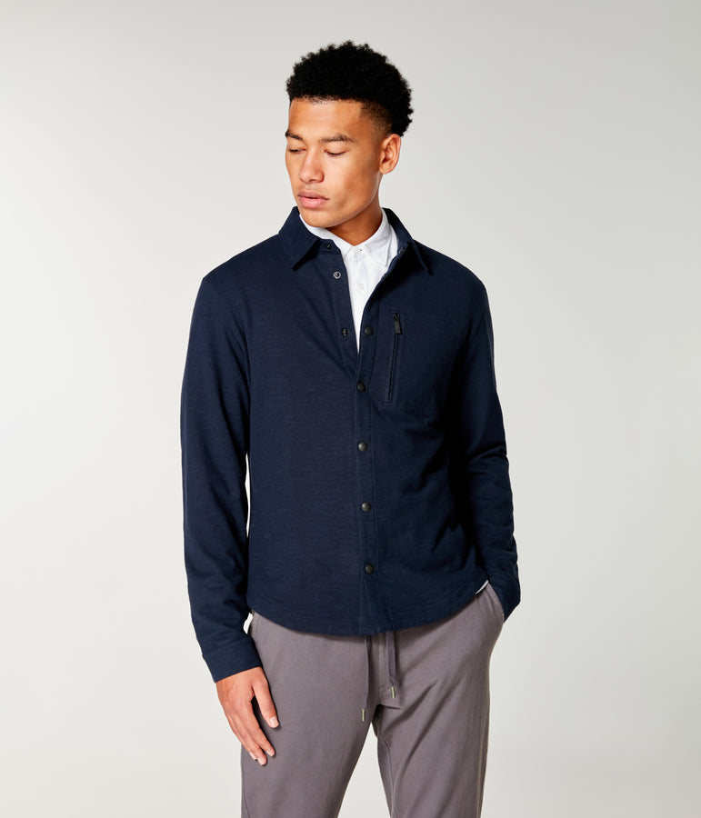 Soft-Slub SFO Shirt Jacket - Sky Captain - Good Man Brand
