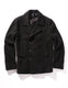 Melton Jersey London Docks Pea Coat - Black