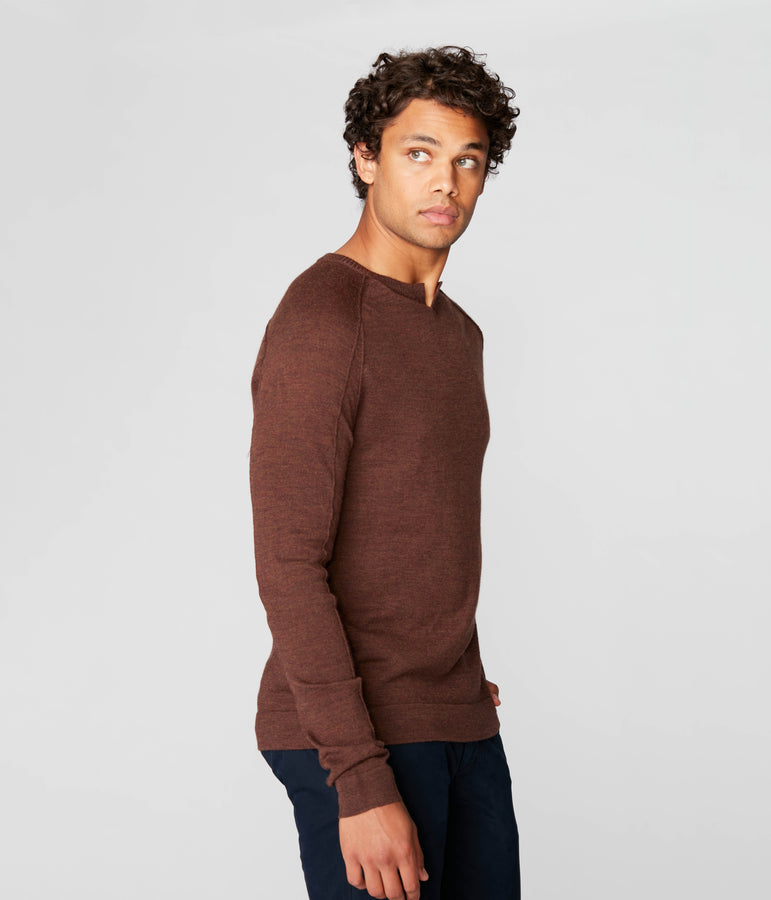 MVP V-Notch Sweater - Chestnut - Good Man Brand