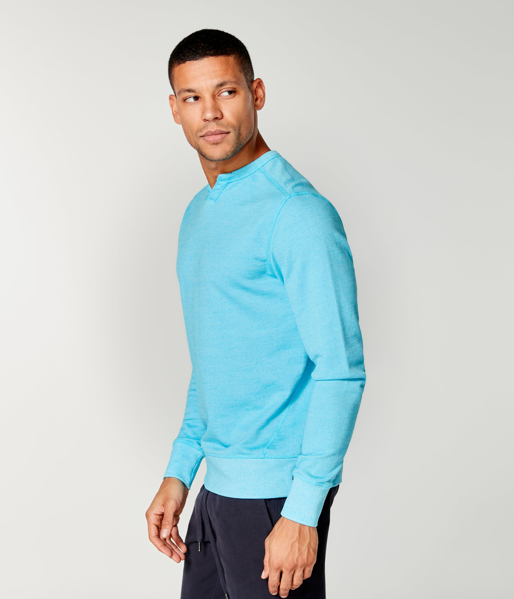 Victory V-Notch Sweatshirt - Turq