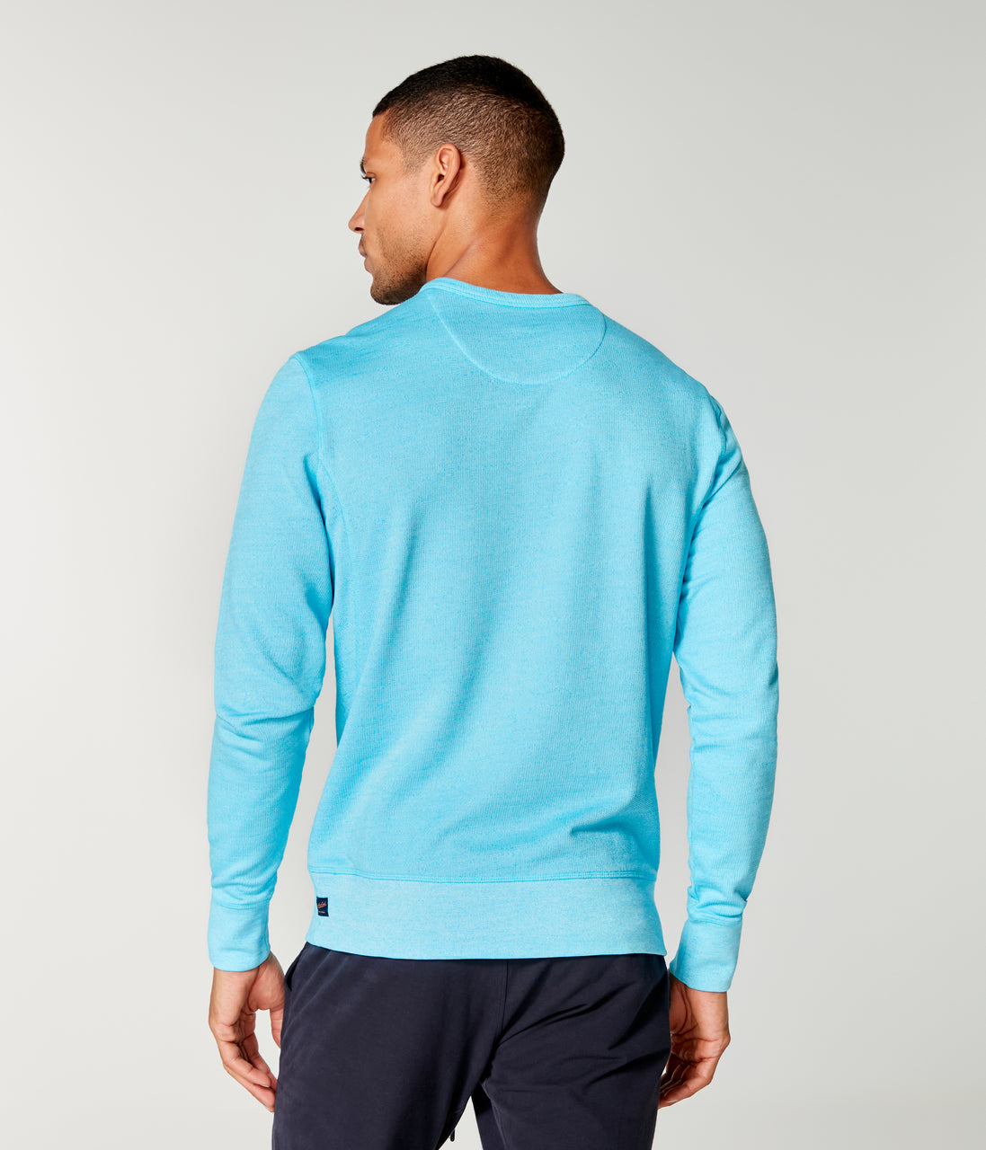 Victory V-Notch Sweatshirt - Turq - Good Man Brand - Victory V-Notch Sweatshirt - Turq