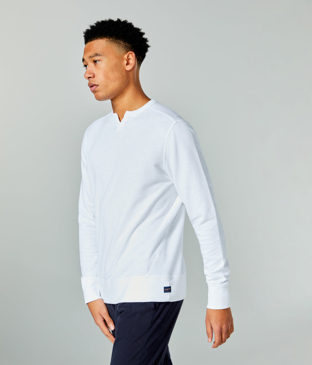 Victory V-Notch Sweatshirt - White - Good Man Brand - Victory V-Notch Sweatshirt - White