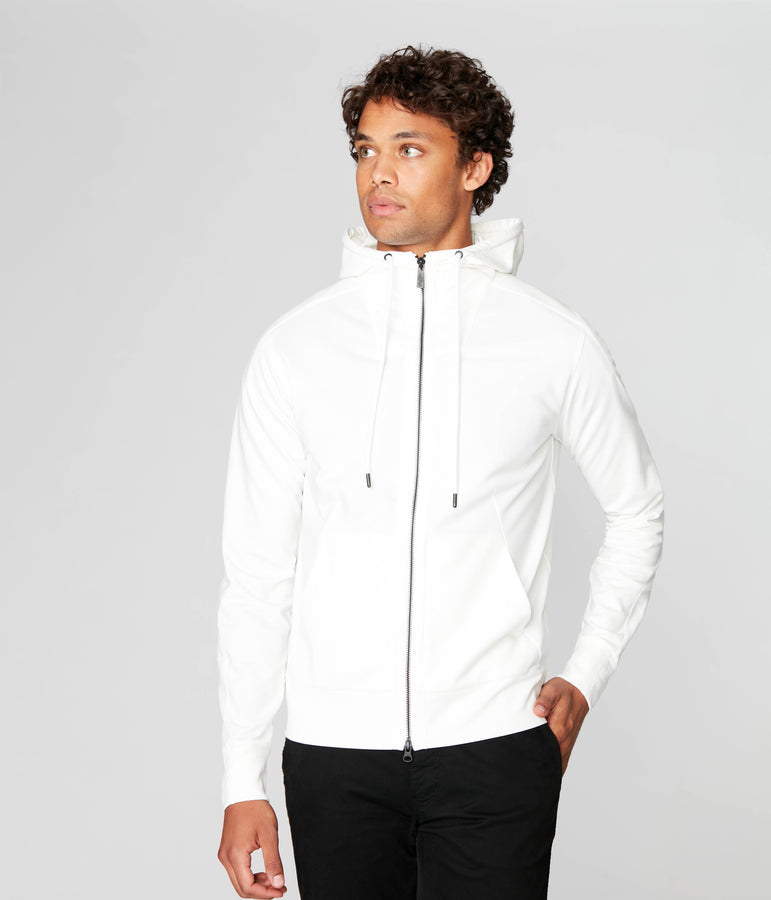Tech Hoodie in Tech Ponte French Terry - Natural - Good Man Brand