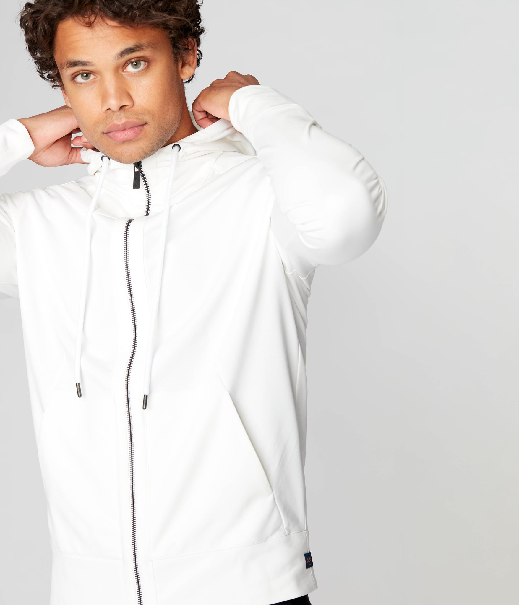 Tech Hoodie in Tech Ponte French Terry - Natural