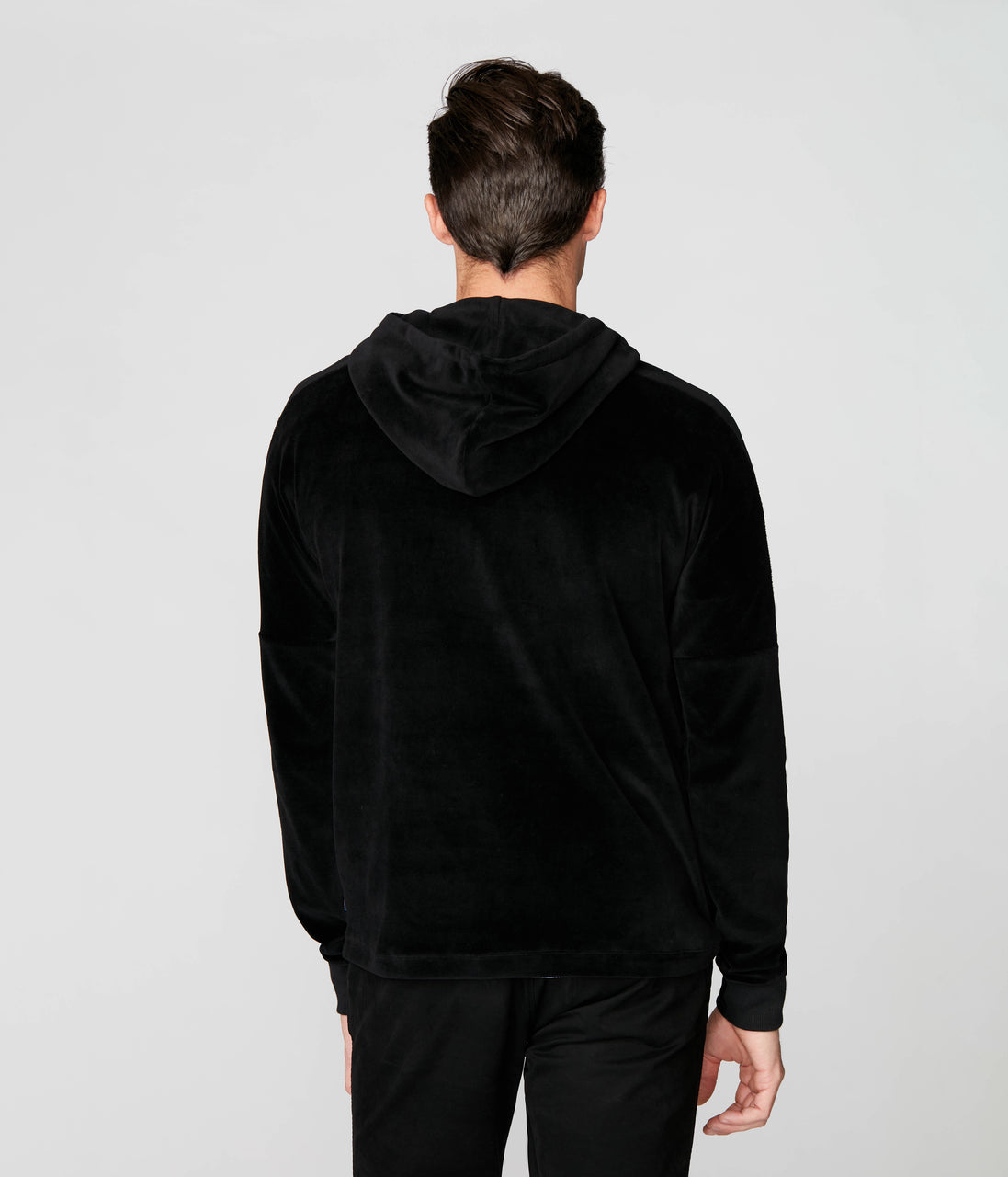 Japan Hoodie in Velour Single Flex - Black - Good Man Brand - Japan Hoodie in Velour Single Flex - Black