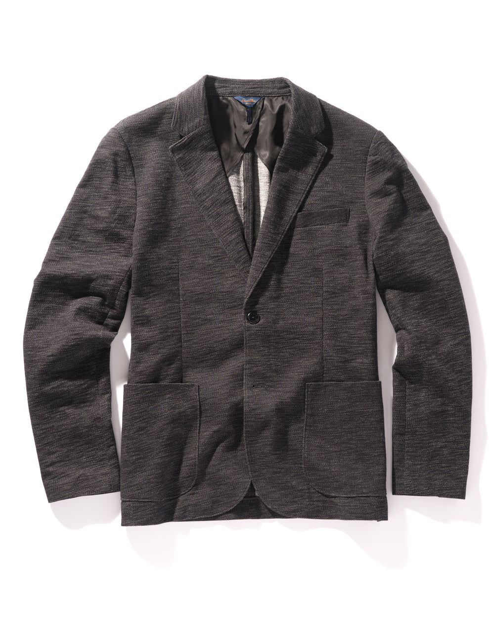 Vintage Twill Slub French Terry Soft Blazer - Black / Grey Heather - Good Man Brand - Vintage Twill Slub French Terry Soft Blazer - Black / Grey Heather