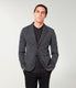 Bi-Color Birdseye Soft Blazer - Black