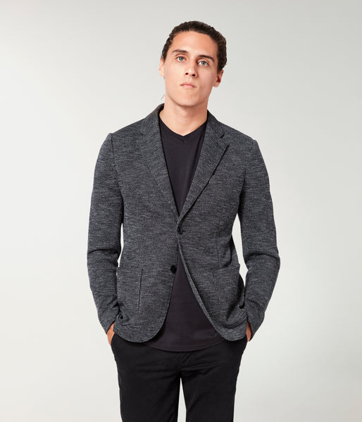 Soft Blazer - Black Vintage Twill French Terry - Good Man Brand -
