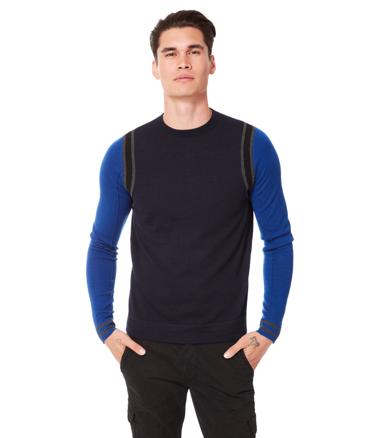 MVP Athletic Color Block Sweater - Blue - Good Man Brand