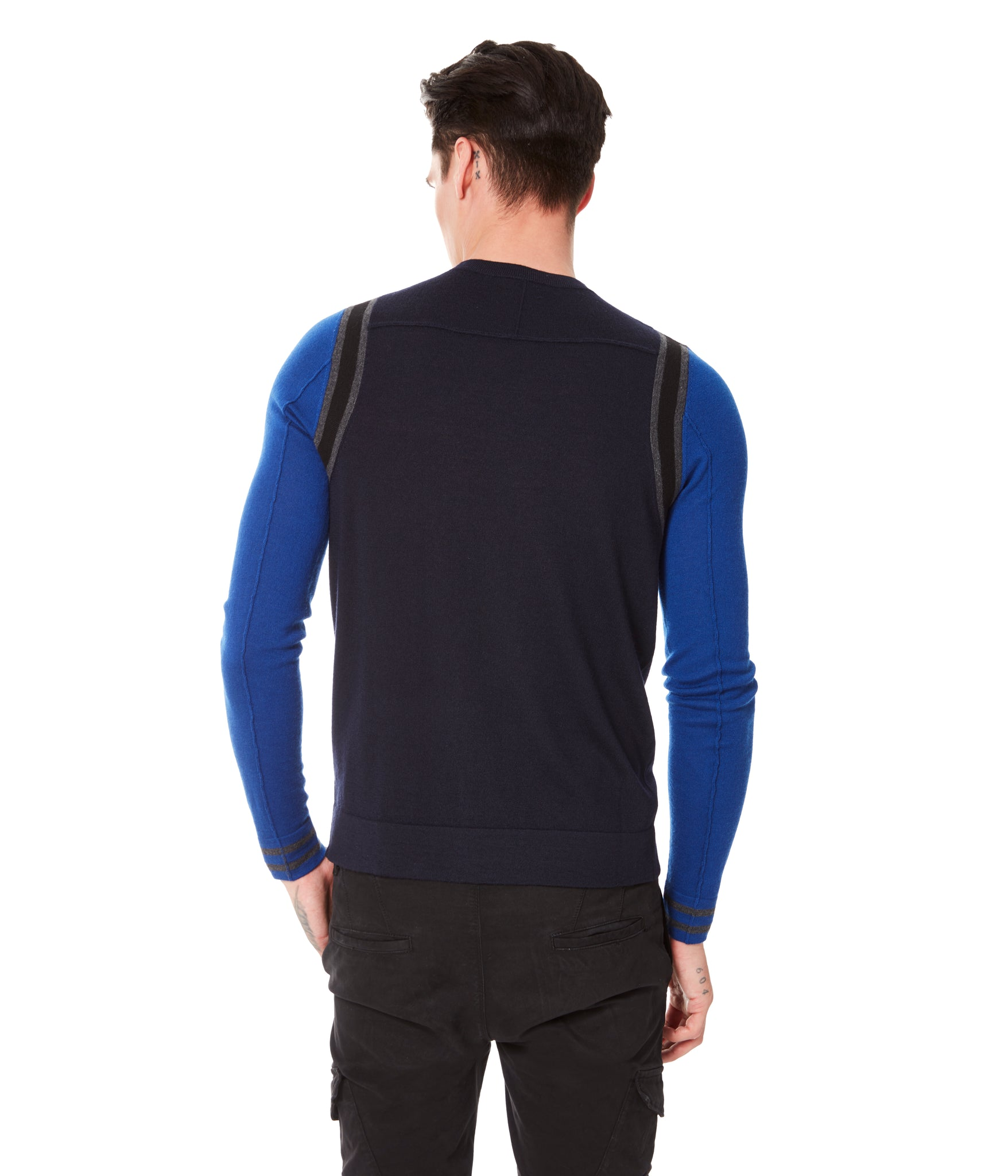 MVP Athletic Color Block Sweater - Blue