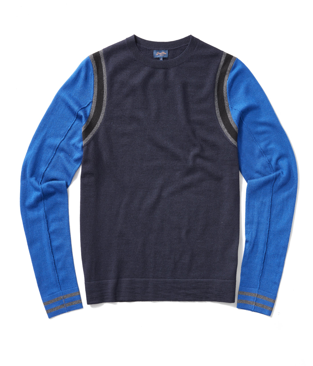 MVP Athletic Color Block Sweater - Blue - Good Man Brand - MVP Athletic Color Block Sweater - Blue