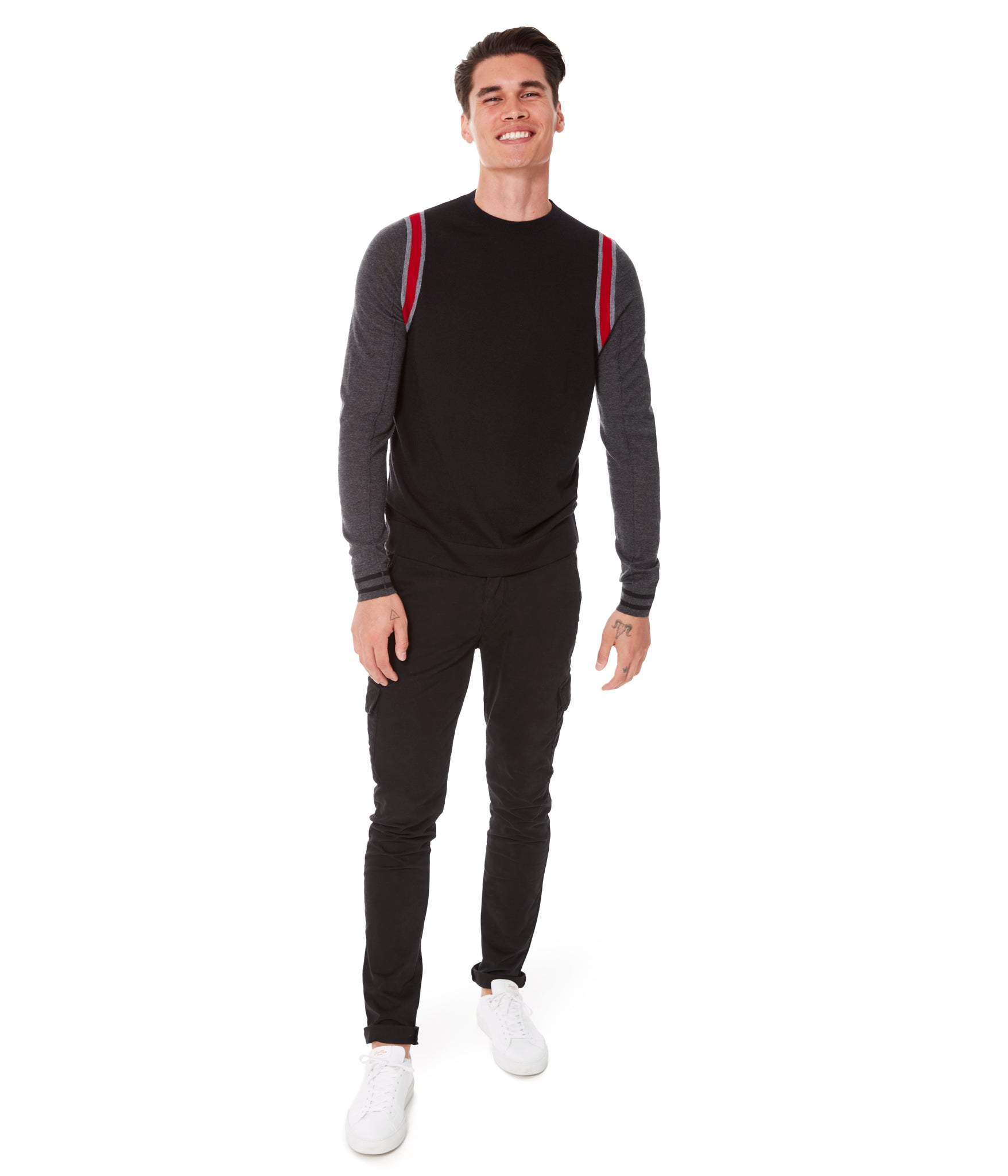 MVP Athletic Color Block Sweater - Red