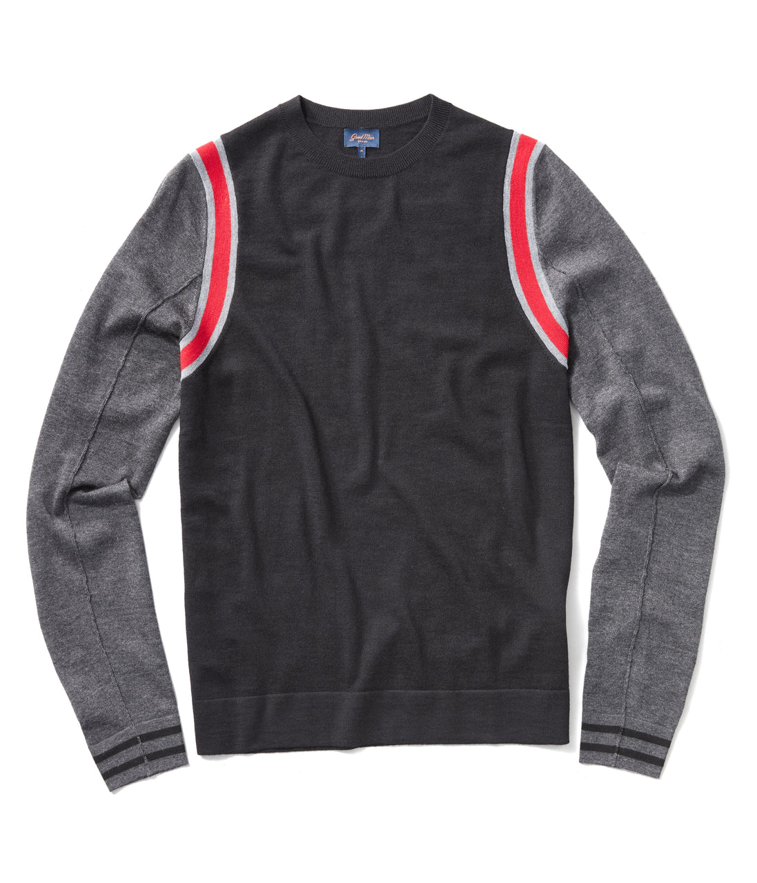 MVP Athletic Color Block Sweater - Red - Good Man Brand - MVP Athletic Color Block Sweater - Red