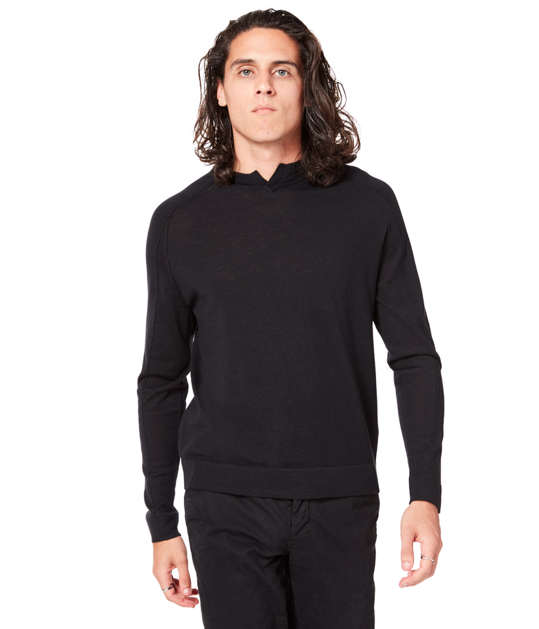 MVP V-Notch Sweater - Black - Good Man Brand