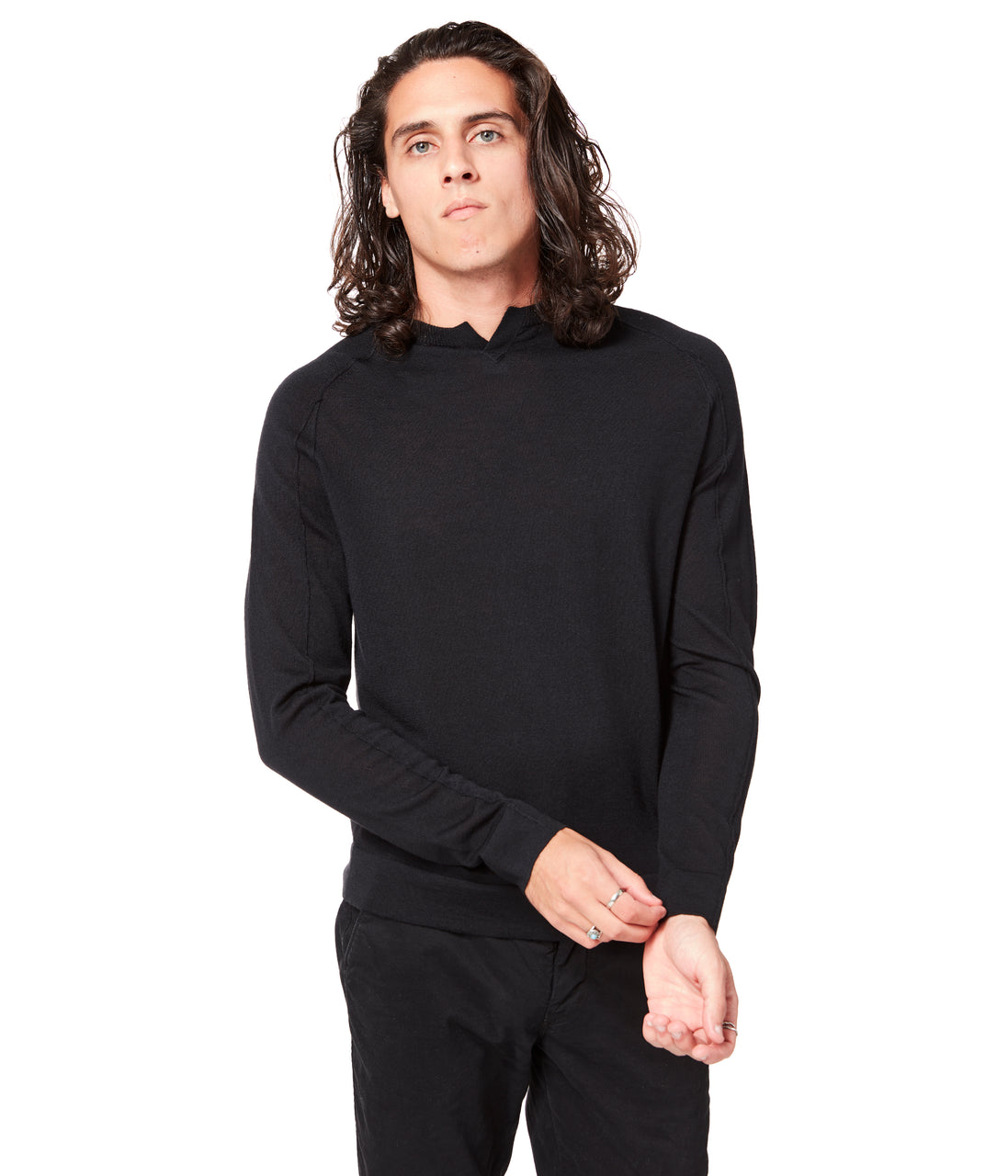 MVP V-Notch Sweater - Black - Good Man Brand - MVP V-Notch Sweater - Black