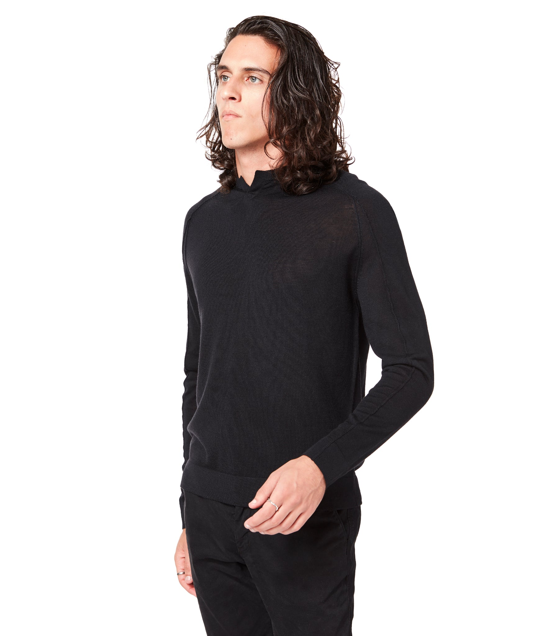 MVP V-Notch Sweater - Black