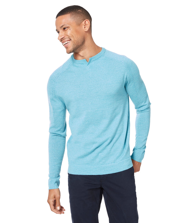 MVP V-Notch Sweater - Blue Topaz - Good Man Brand