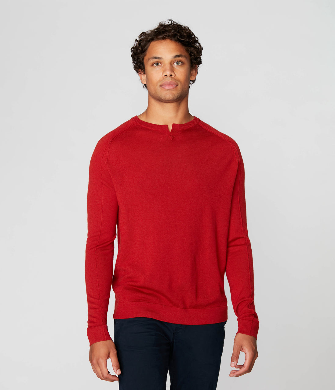 MVP V-Notch Sweater - Flame - Good Man Brand - MVP V-Notch Sweater - Flame