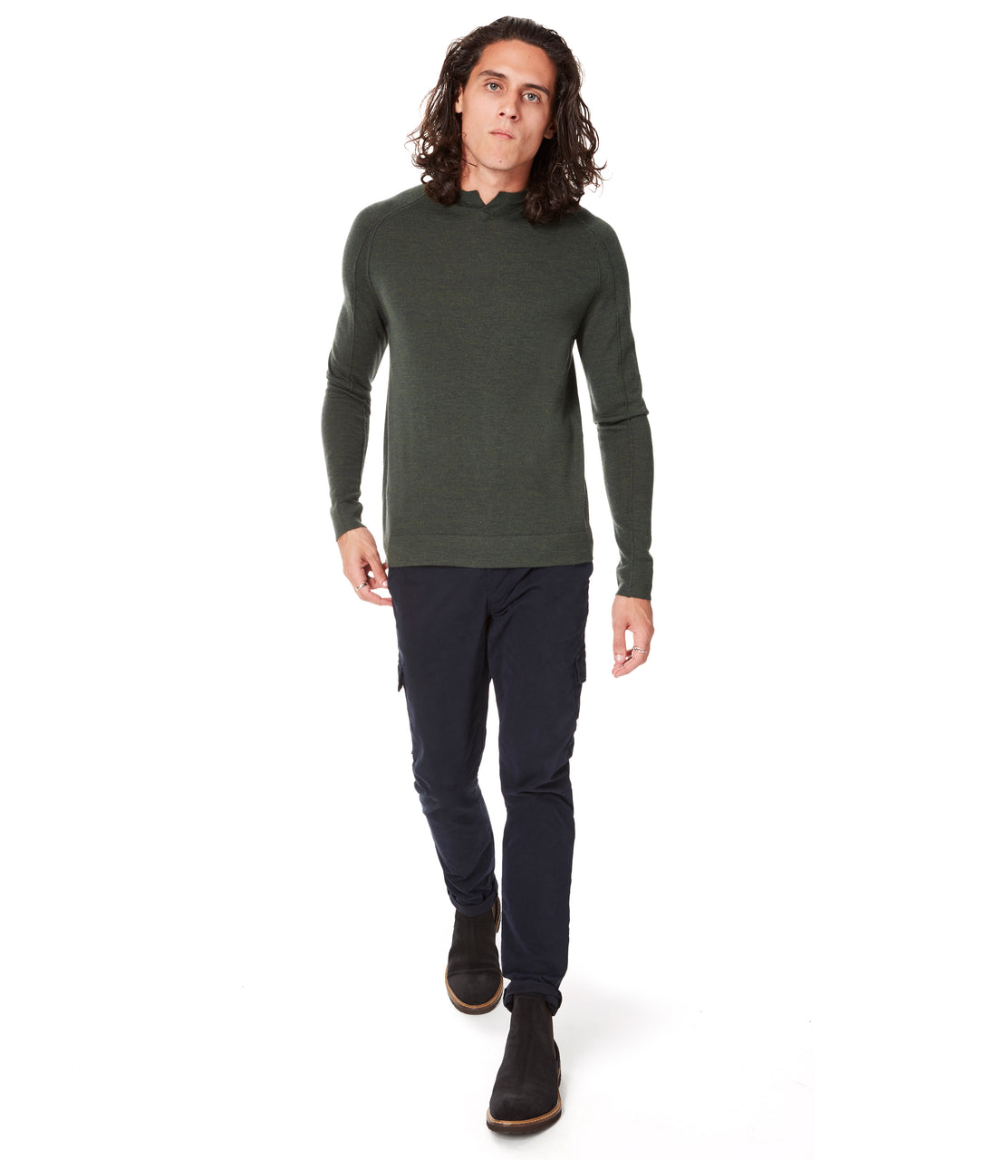 MVP V-Notch Sweater - Garden - Good Man Brand - MVP V-Notch Sweater - Garden