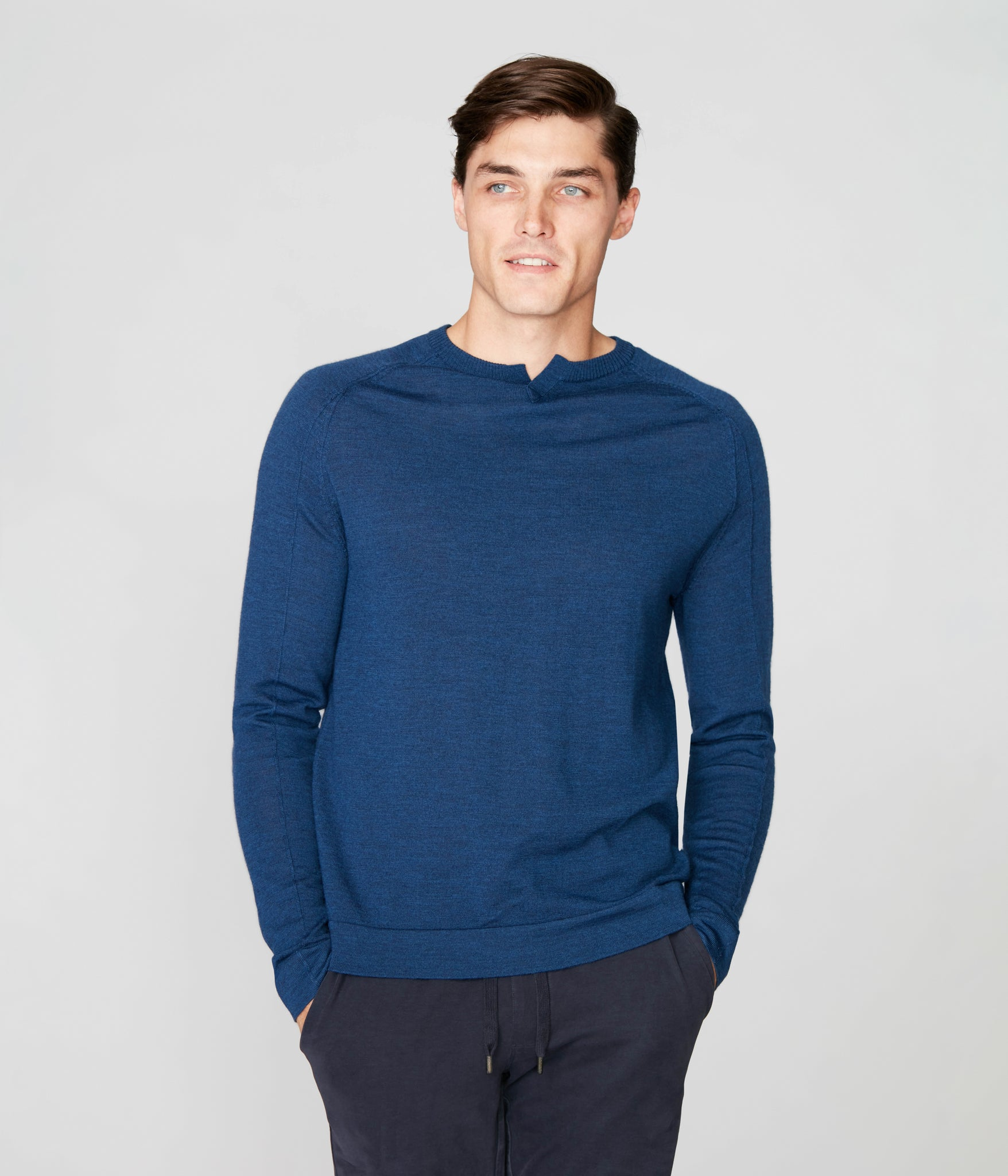 MVP V-Notch Sweater - Indigo