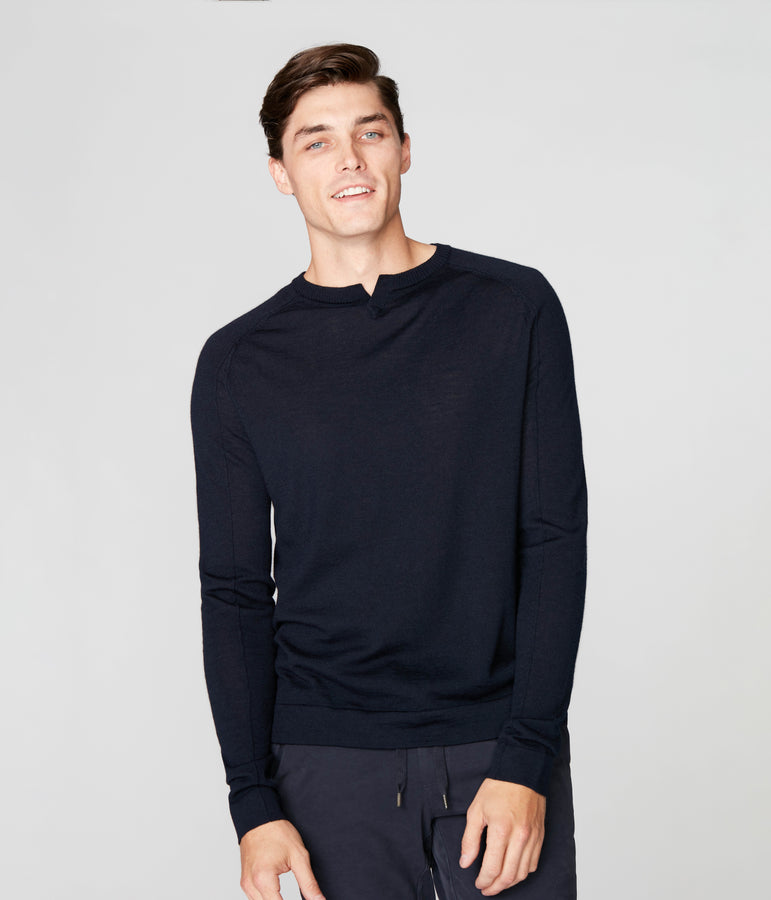 MVP V-Notch Sweater - Navy - Good Man Brand