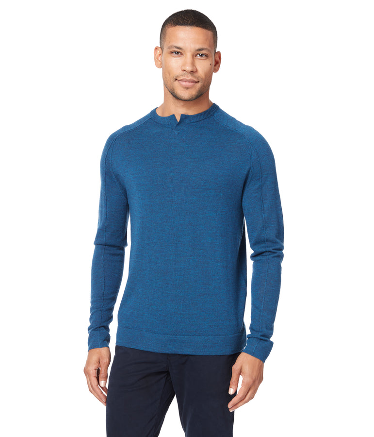 MVP V-Notch Sweater - Teal - Good Man Brand