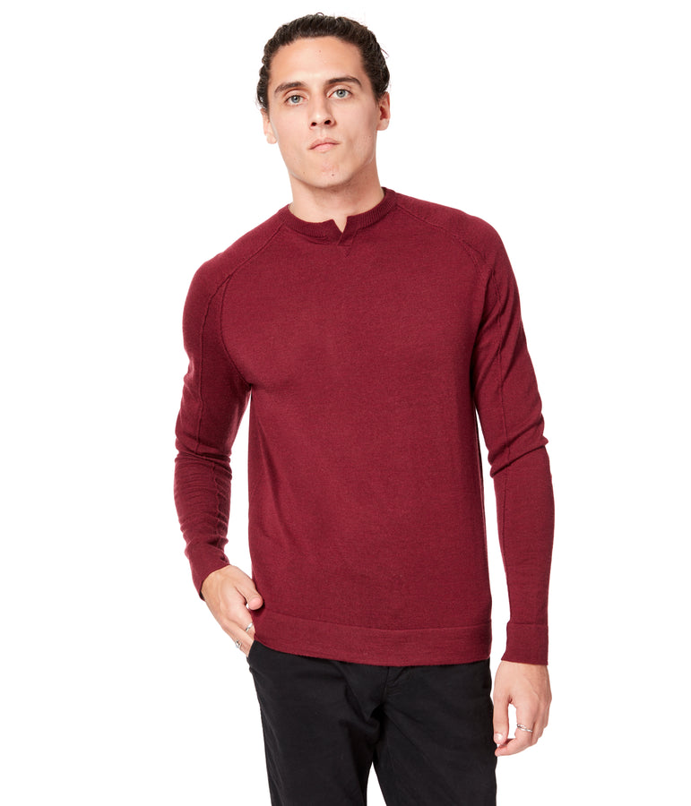 MVP V-Notch Sweater - Wine - Good Man Brand