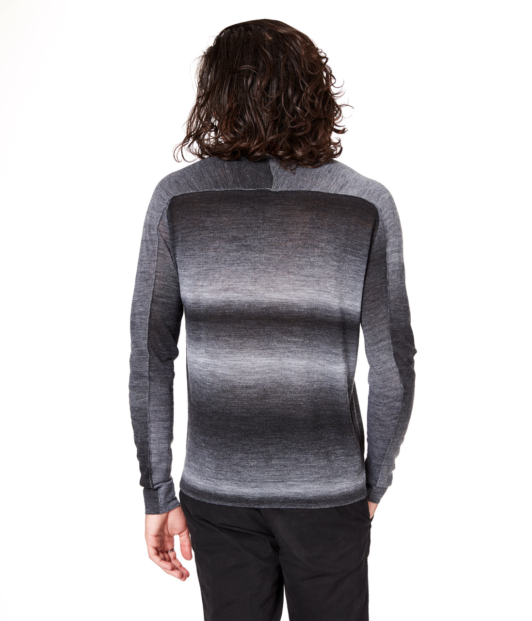 MVP V-Notch Spacedye Sweater - Black - Good Man Brand - MVP V-Notch Spacedye Sweater - Black