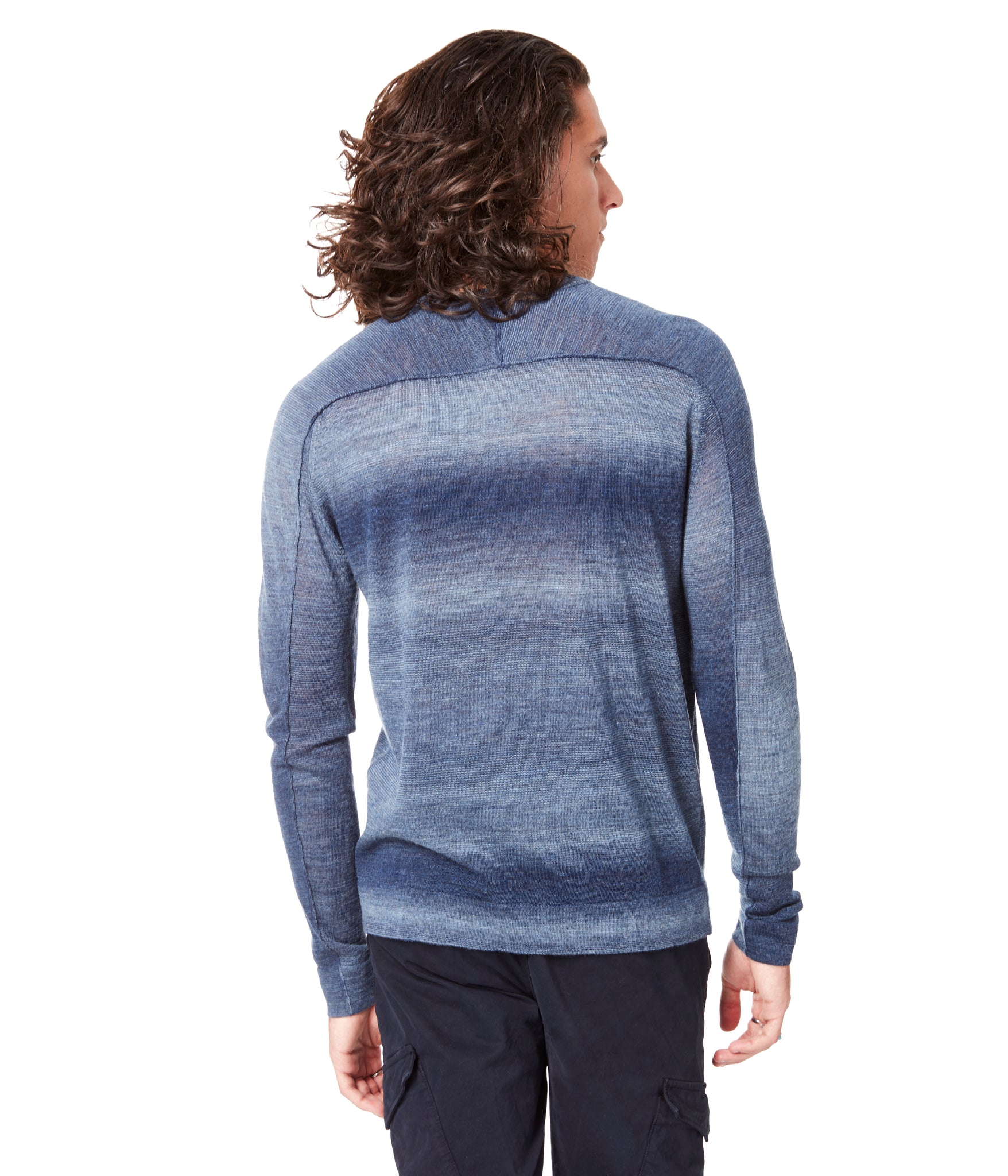 MVP V-Notch Spacedye Sweater - Indigo