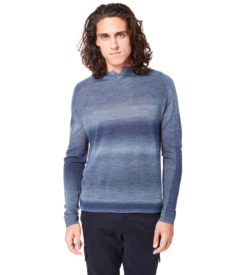 MVP V-Notch Spacedye Sweater - Indigo - Good Man Brand