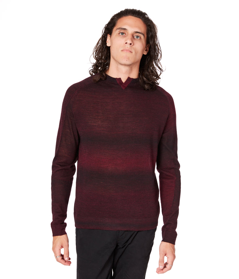 MVP V-Notch Spacedye Sweater - Wine - Good Man Brand