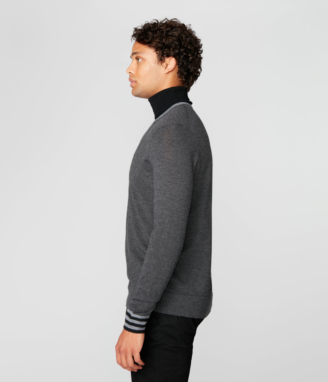 Icon Turtleneck in Merino Wool - Charcoal Heather - Good Man Brand - Icon Turtleneck in Merino Wool - Charcoal Heather