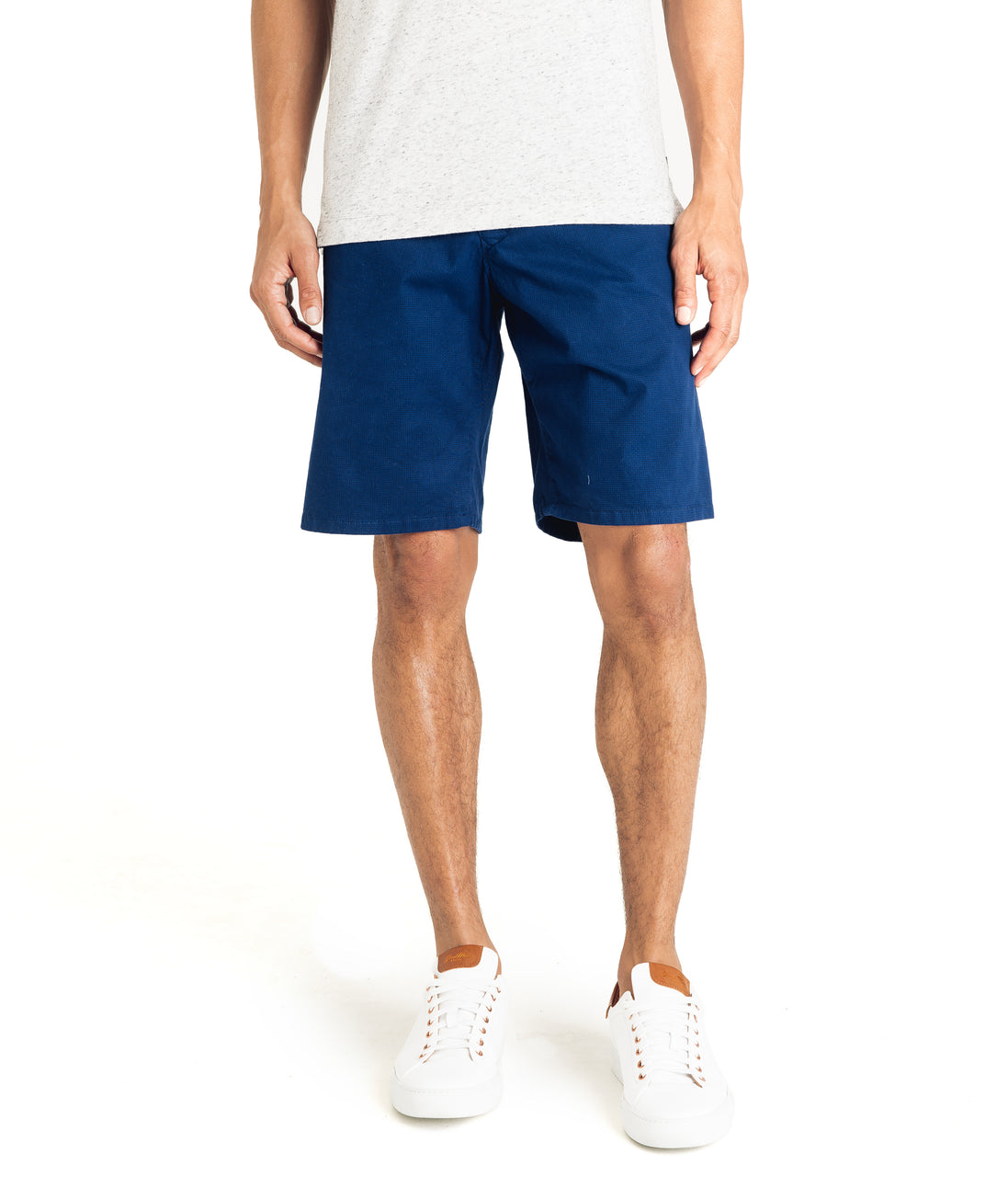 Wrap Diamond Dash Stretch Twill Short - Indigo - Good Man Brand - Wrap Diamond Dash Stretch Twill Short - Indigo