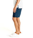 Monaco Diamond Stripe Stretch Twill Wrap Short - Denim Blue