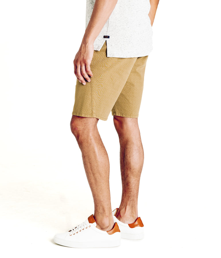 Monaco Diamond Stripe Stretch Twill Wrap Short - Khaki - Good Man Brand - Monaco Diamond Stripe Stretch Twill Wrap Short - Khaki