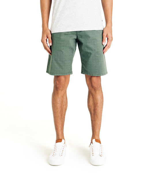 Monaco Diamond Stripe Stretch Twill Wrap Short - Sea - Good Man Brand -
