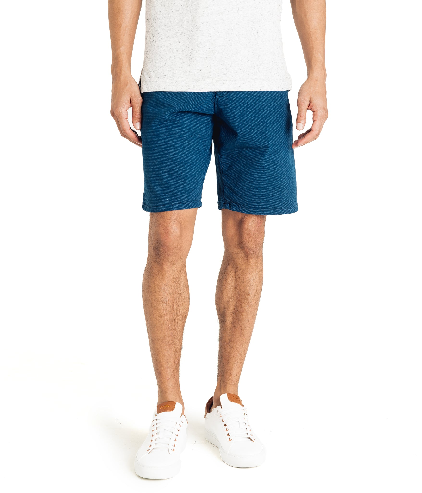 Monaco Diamond Stripe Stretch Twill Wrap Short - Sea