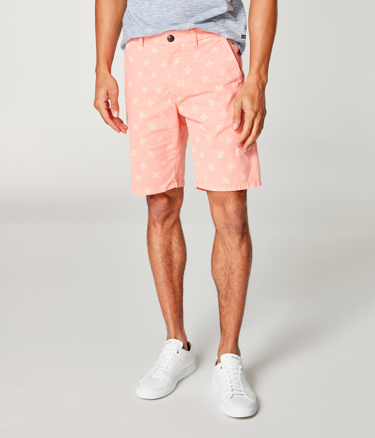 Monaco Stretch Twill Floral Wrap Short - Hibiscus - Good Man Brand