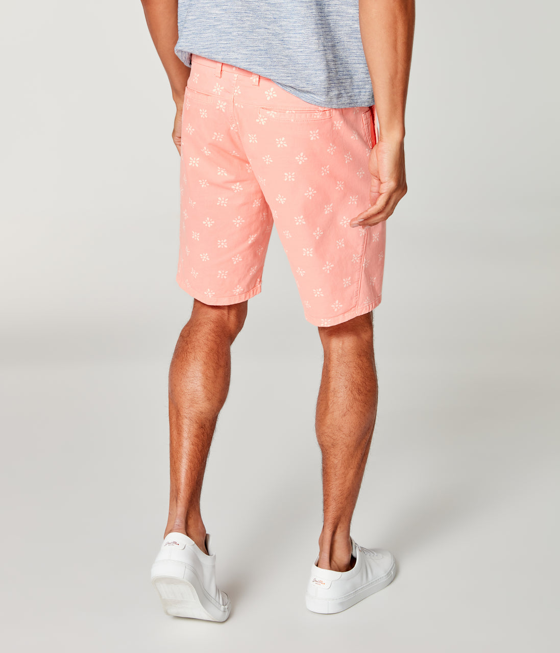 Monaco Stretch Twill Floral Wrap Short - Hibiscus - Good Man Brand - Monaco Stretch Twill Floral Wrap Short - Hibiscus