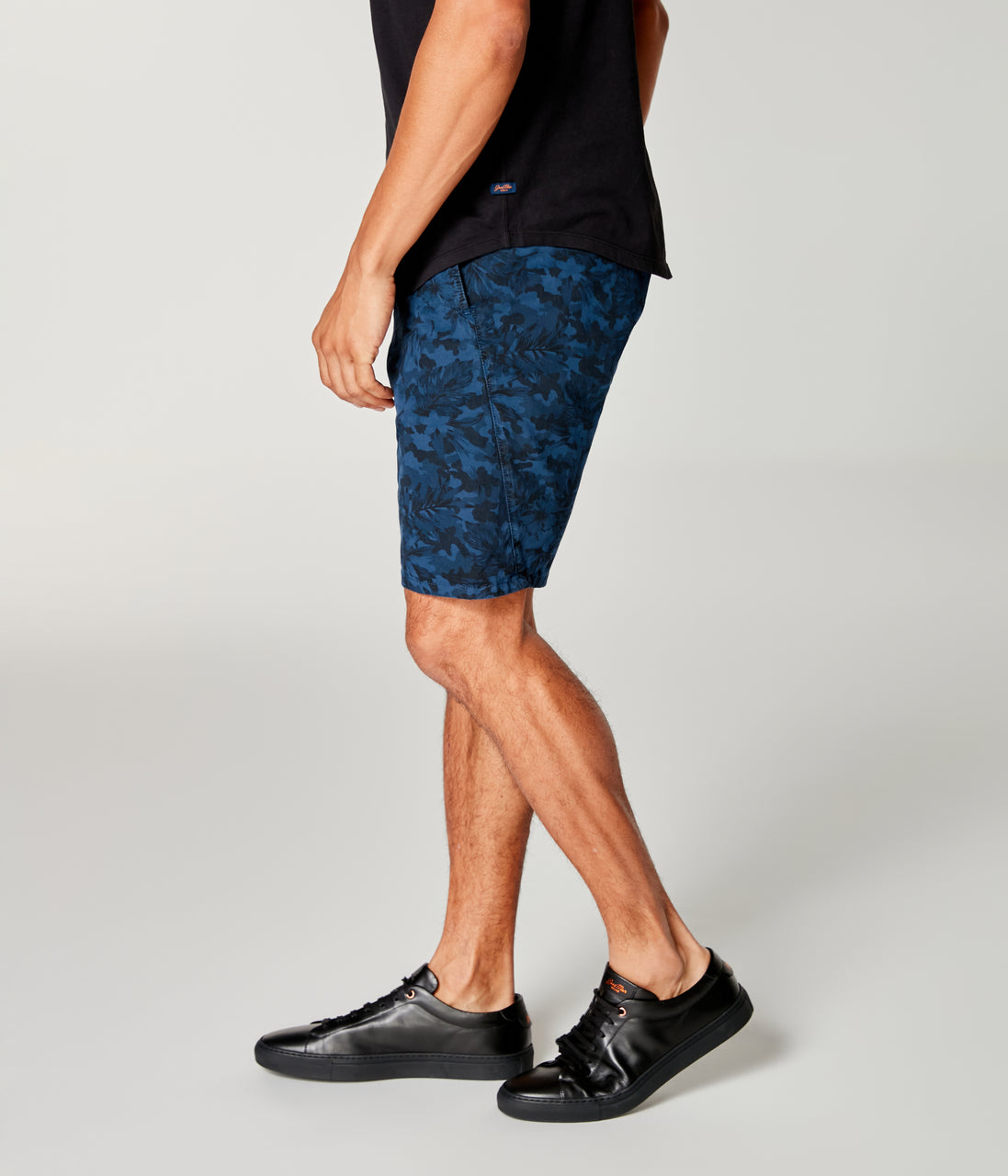 Monaco Stretch Twill Camo Wrap Short - Denim Blue - Good Man Brand - Monaco Stretch Twill Camo Wrap Short - Denim Blue