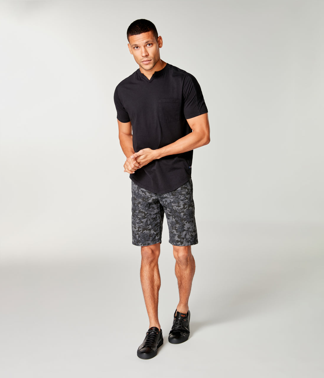 Monaco Stretch Twill Camo Wrap Short - Magnet - Good Man Brand - Monaco Stretch Twill Camo Wrap Short - Magnet